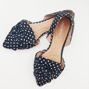 Lane Bryant black and white polka dot flats